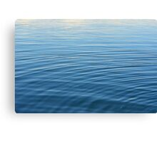 Natural background with blue and beige water ripples. Canvas Print