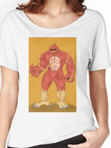 Angry cartoon monster  Women's Relaxed Fit T-Shirt