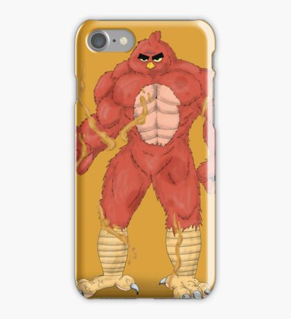 Angry cartoon monster  iPhone Case/Skin