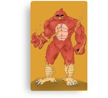 Angry cartoon monster  Canvas Print