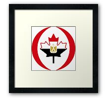 Egyptian Canadian Multinational Patriot Flag Series Framed Print