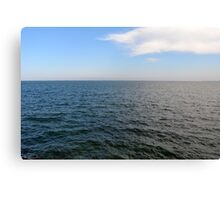 The Black Sea, natural image with sunny day. Canvas Print