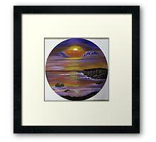 Purple Moods Framed Print