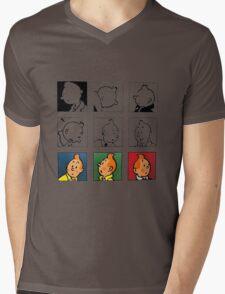 tintin Mens V-Neck T-Shirt