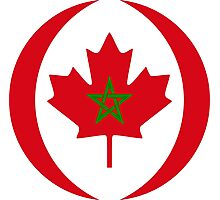 Moroccan Canadian Multinational Patriot Flag Series Photographic Print
