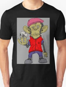 cartoon stood monkey. Unisex T-Shirt