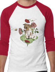 Puppy Bouquet Men's Baseball ¾ T-Shirt