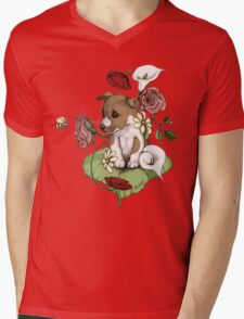Puppy Bouquet Mens V-Neck T-Shirt