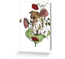 Puppy Bouquet Greeting Card