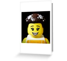 The Ballerina has come to Aaron's Lego Greeting Card