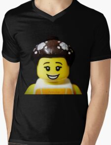 The Ballerina has come to Aaron's Lego Mens V-Neck T-Shirt