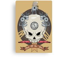 outdie skull Canvas Print