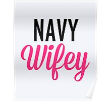 Navy Wifey Quote Poster
