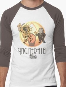 Incinerate! Men's Baseball ¾ T-Shirt