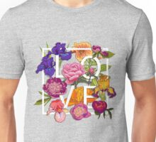 Floral Love Graphic Design Unisex T-Shirt