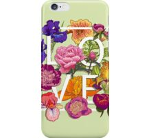 Floral Love Graphic Design iPhone Case/Skin