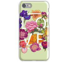 Floral Love Graphic Design iPhone Case/Skin