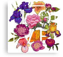 Floral Love Graphic Design Canvas Print