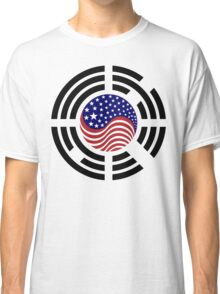 Korean American Multinational Patriot Flag Series 4.0 Classic T-Shirt