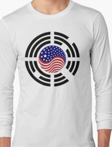 Korean American Multinational Patriot Flag Series 4.0 Long Sleeve T-Shirt