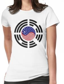 Korean American Multinational Patriot Flag Series 4.0 Womens Fitted T-Shirt