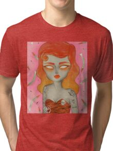 ORANGE ϟ VOODOO Tri-blend T-Shirt