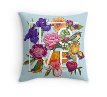 Floral and birds Graphic Design  Throw Pillow