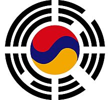 Korean Armenian Multinational Patriot Flag Series Photographic Print