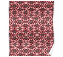 Pink Wall Pattern Poster