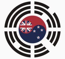 Korean Kiwi (New Zealand) Multinational Patriot Flag Series One Piece - Long Sleeve