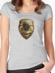 Valentine Detective Agency Gold Women's Fitted Scoop T-Shirt