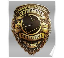 Valentine Detective Agency Gold Poster