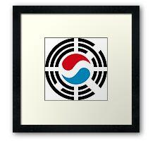 Korean Luxembourg Multinational Patriot Flag Series Framed Print