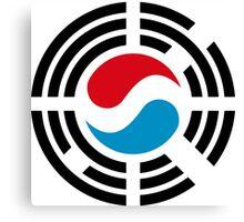 Korean Luxembourg Multinational Patriot Flag Series Canvas Print