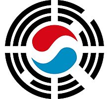Korean Luxembourg Multinational Patriot Flag Series Photographic Print
