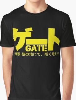 Gate Logo Anime : Jieitai Kano Chi nite, Kaku Tatakaeri Graphic T-Shirt