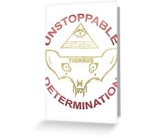 TIGRRIIS - Unstoppable Determination [Red + Gold] Greeting Card