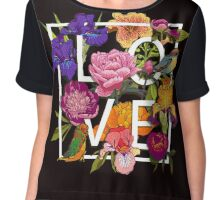 Floral and birds Graphic Design  Chiffon Top