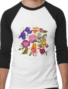 Floral and birds Graphic Design  Men's Baseball ¾ T-Shirt