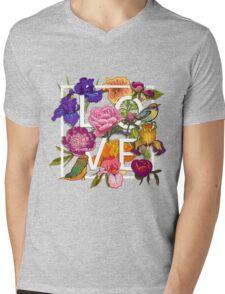 Floral and birds Graphic Design  Mens V-Neck T-Shirt