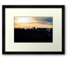 Dawn on a cold morning Framed Print