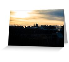 Dawn on a cold morning Greeting Card