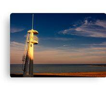 Lifeguard tower at sunset Canvas Print