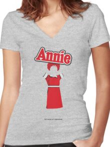 Annie Women's Fitted V-Neck T-Shirt