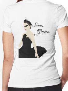 Swan Queen Women's Fitted V-Neck T-Shirt