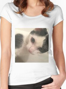 Cute Cat Women's Fitted Scoop T-Shirt