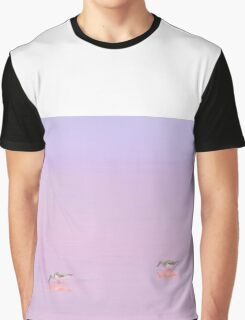 Birds in the Pink Lake Graphic T-Shirt