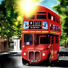 Route-Master, Red, City of London Antique Transport by Grant Wilson