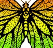 Beautiful Warm Color Butterfly Design Type B Sticker