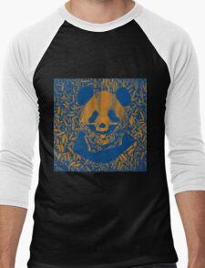 Bluish Yellow Gangsta Panda Men's Baseball ¾ T-Shirt